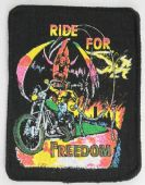 Ride For Freedom - Printed Patch